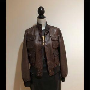 Italian leather jacket.